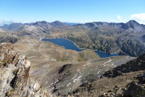 23-du sommet vue sur l'étang de Lanoux et le Carlit